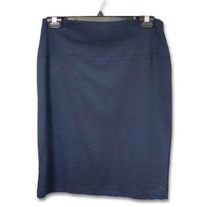 Body Con Mini Skirt Navy Blue Women's Size M